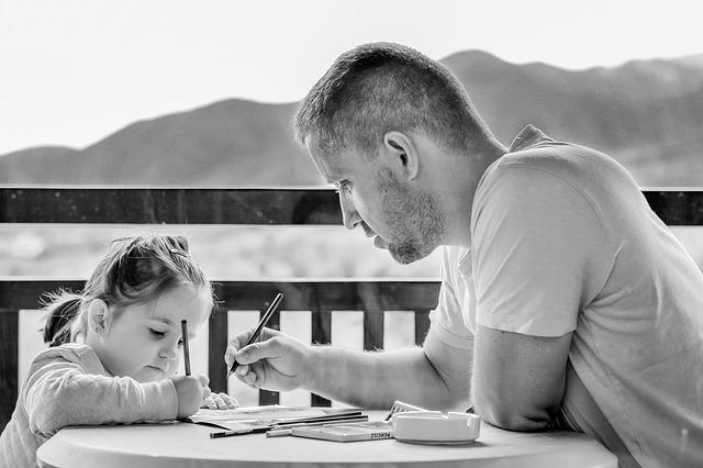 malování s dcerkou