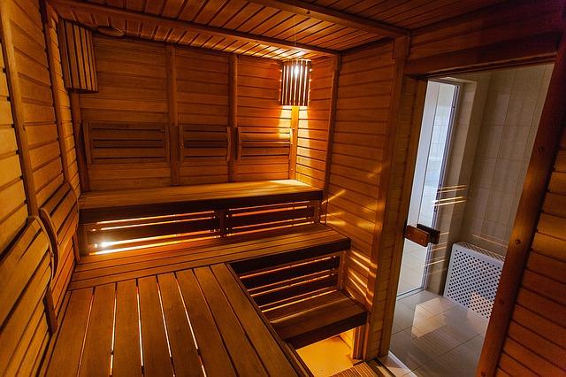 Sauna-interiér