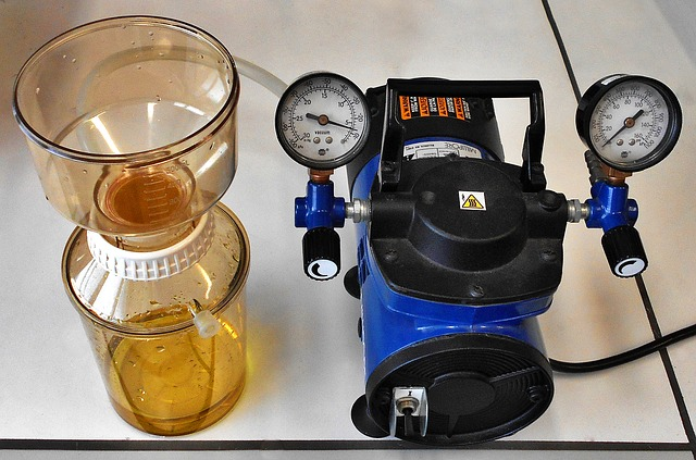 modré filtrační čerpadlo