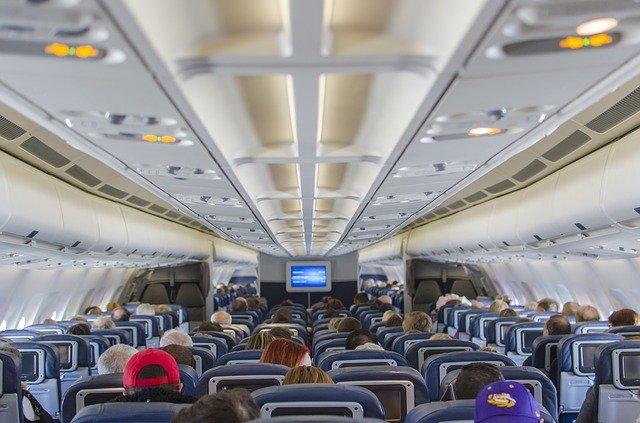 interiér letadla
